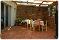 Patio Dining Area with Braai Facilities